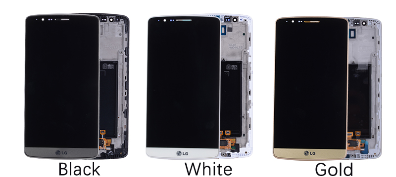 5.5 Original Display for LG G3 LCD Touch Screen with Frame for LG G3 D850 D851 D855 LCD Display Replacement Black Whtie Gold (7)