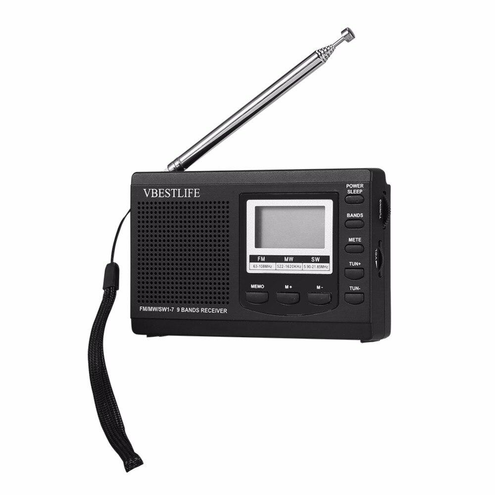 Tragbares Audio & Video Tragbare Mini Radio Dsp Fm/mw/sw Empfänger Notfall Radio Mit Digital-wecker Fm Radio Antenne Fm Receiver Kostenloser Versand Radio