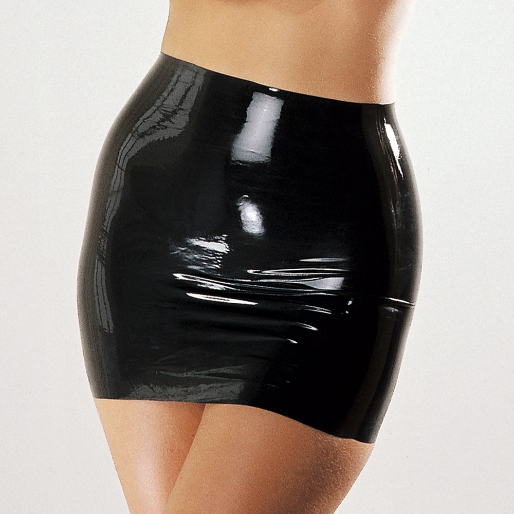 Sexy woman latex skirt 100% natural rubber fetish mini skirts exotic apparel costumes(China)