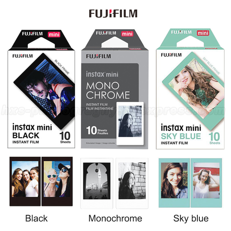 30 Sheets Fuji Fujifilm Instax Mini 8 Film Monochrome Blue and Black for 7S 25 8 50s 90 9 instax camera Share Smartphone SP-2 1