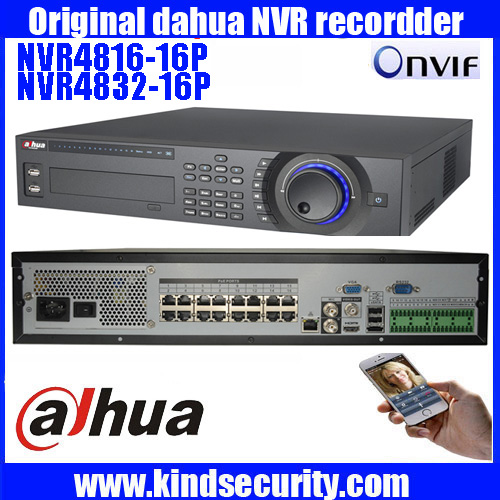 Original ENGLISH DAHUA 16POE Supports Up to 5MP Recording Resoution and 8HDD Network Video Recorder NVR4816-16P/NVR4832-16P 16ch poe nvr 1080p 1 5u onvif poe network 16poe port recording hdmi vga p2p pc