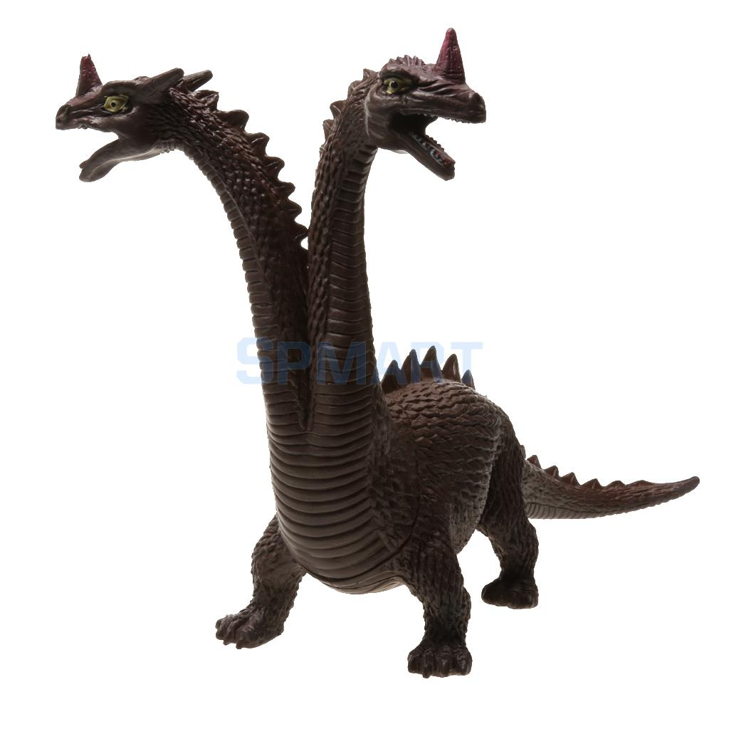 Lifelike Plastic Jakiro Twin-headed Dinosaur Figures Dino with Sound Kid Novelty Toy Collectibles