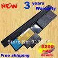 Envío rápido caliente NUEVA 8 CELDAS de batería para Portátil IBM lenovo thinkpad x200 x200s x201 x201s x201i 42t4650 negro envío gratis