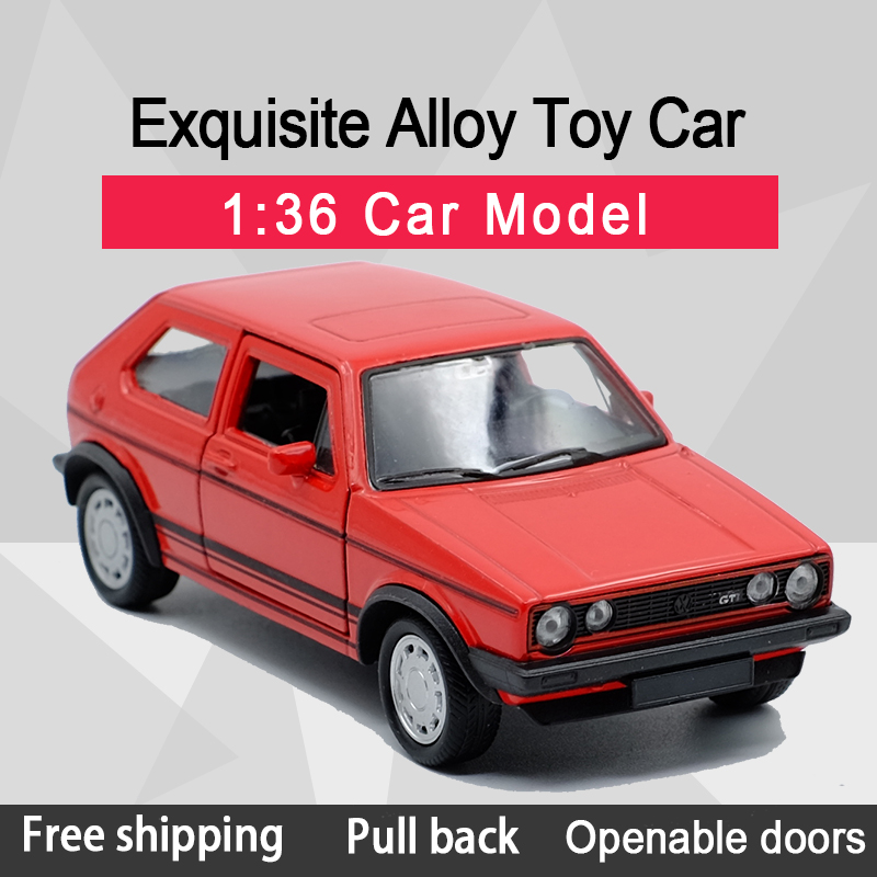 WELLY 1:36 Golf GTI(1984-1990) Alloy Diecast Car Model Toy With Pull Back For Children Gifts Toy Collection