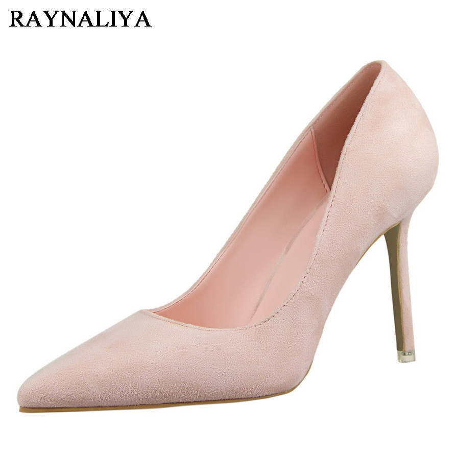 High Heels Shoes Woman Yellow Pumps Spring Autumn Ladies Sexy Fashion Luxury Ladies Heels Wedding Party Shoes DS-A0008 siketu free shipping spring and autumn high heels shoes career sex women shoes wedding shoes g012 nightclub pumps