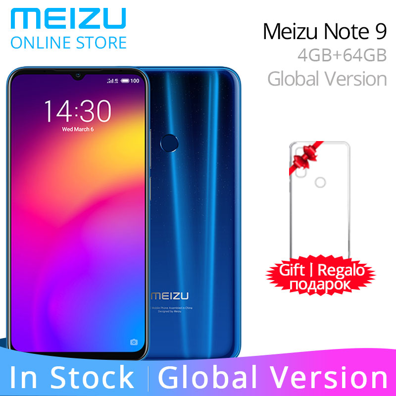 "Meizu Note 9 4GB 64GB Global Version  MeizuNote9 4GB 128GB Smart Phone Snapdragon 675 Octa Core 6.2"" FHD Screen 48MP Rear Camera(China)"