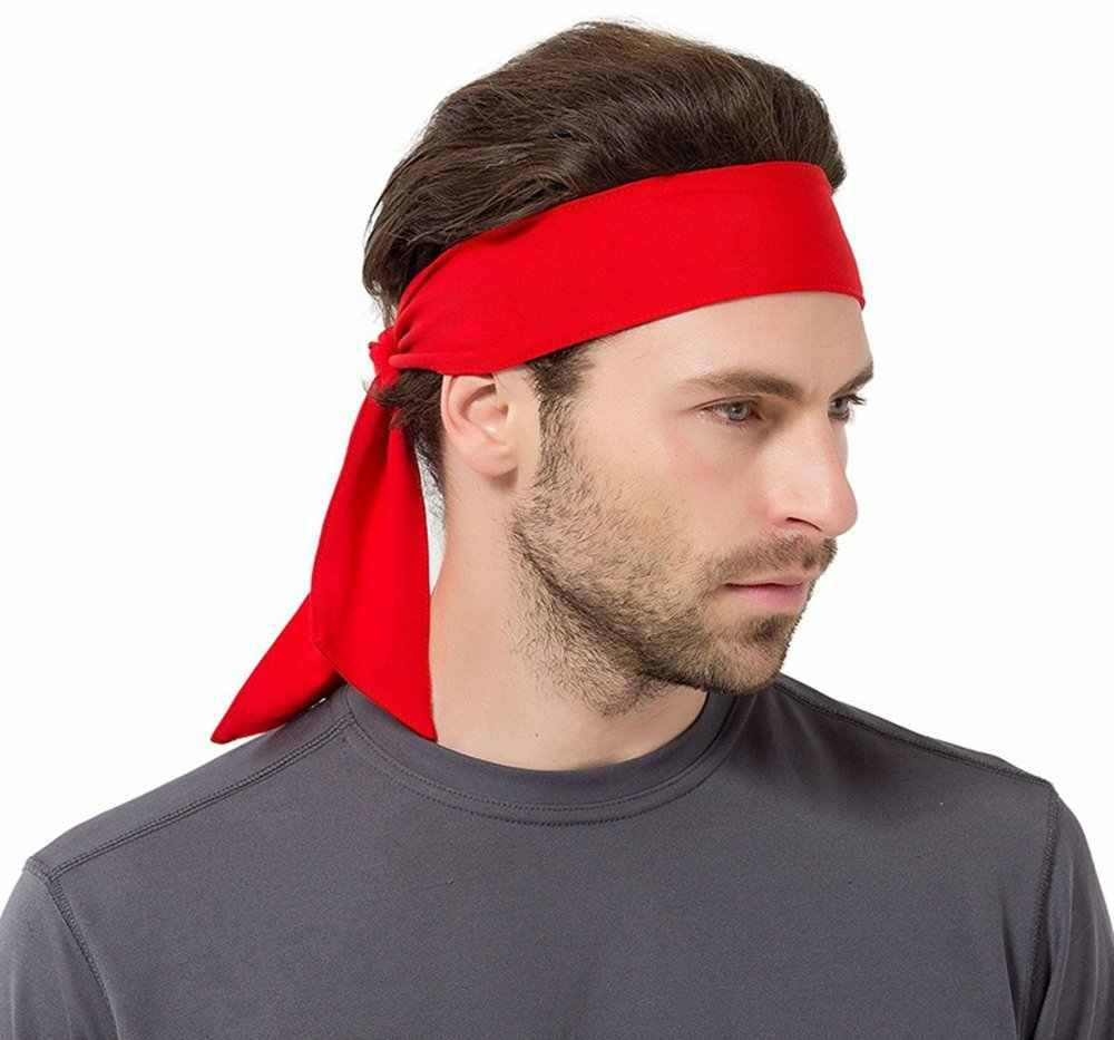 ... Sports Headband For Women And Men Non Slip Hair Band Sweatband Head  Ties Ideal for Running ... 603b223751b