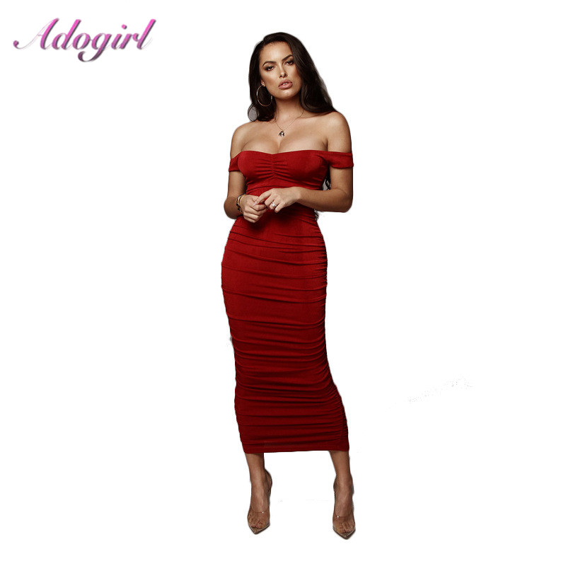 Elegant Solid Strapless Bandage Beach Summer Long Dress Casual Off Shoulder Backless Evening Party Dresses Sexy Sundress Vestido in Dresses from Women 39 s Clothing