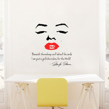 Portrait Of Marilyn Monroe And Inspirational Quotes DIY Vinyl Wall  Wallpaper Stickers Art Home Decor Mural