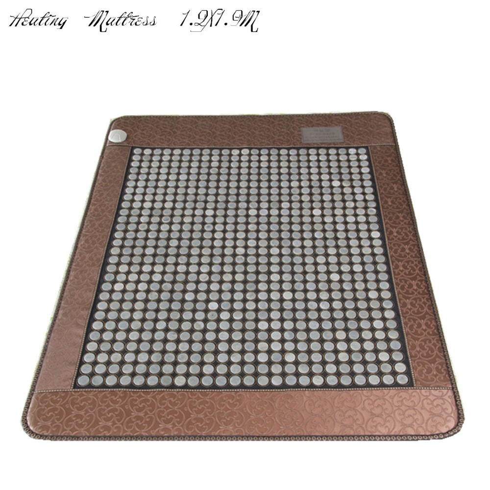 2017 free shipping Infrared Heated Health Mattress Popular Korea Jade Mattress Heating stone with free sleep eye cover 1.2X1.9M health care product for 2017 korea heated mattress heat mat with stones jade heating jade mattresswith free gift eye cover
