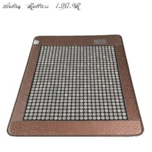 2018 Бесплатная доставка обогреваемый здоровья матрас популярные Корея Нефрита Матрас Отопление камень с бесплатной глаза сна крышка 1.2×1.9 м