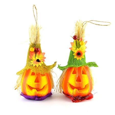 1pc Halloween Decoration Scarecrow Pumpkin Lamp Horror Props Hanging