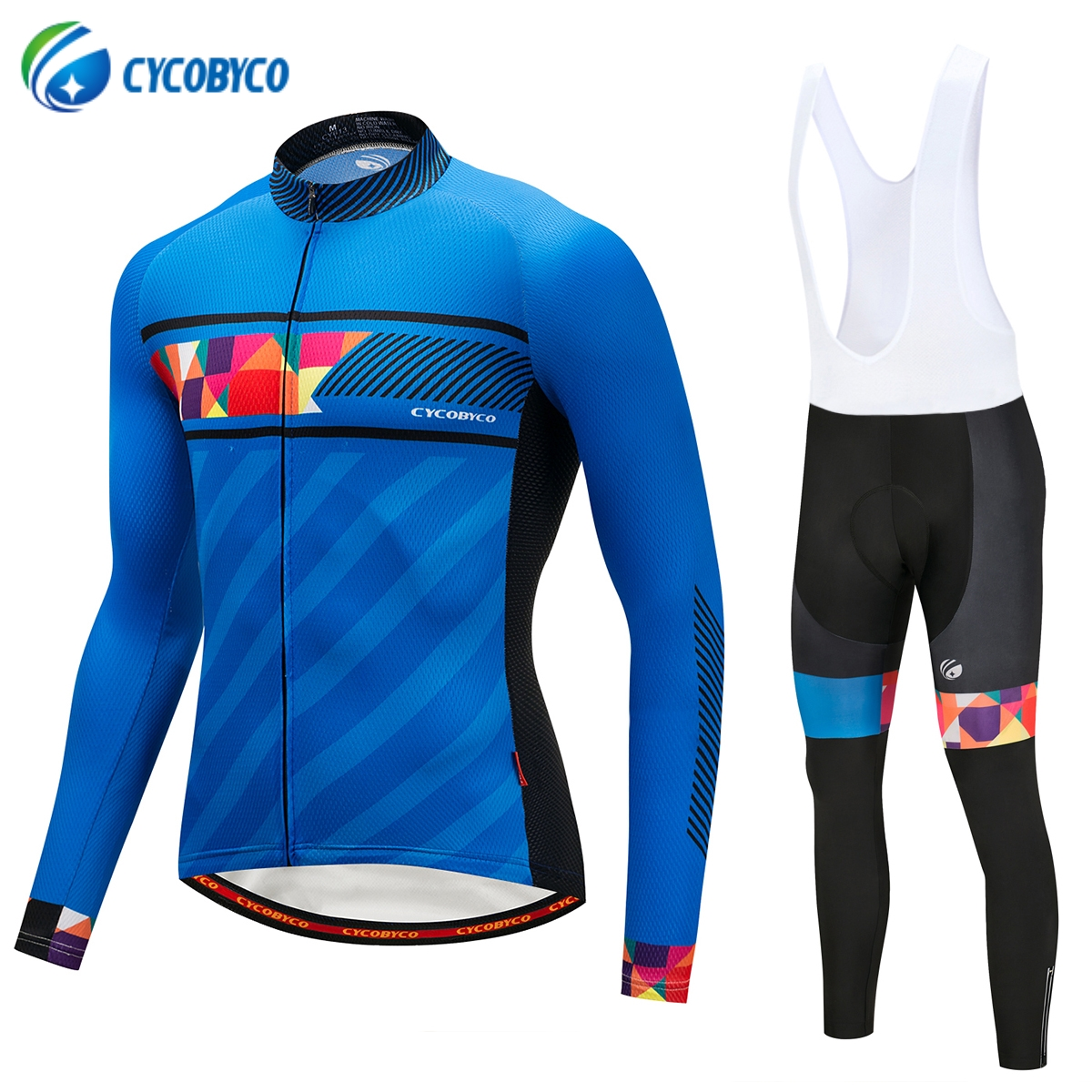 Cycobyco Autumn Cycling Jersey Set Long Sleeve MTB Bike Wear Clothes Breathable Bicycle Clothing Ropa Maillot