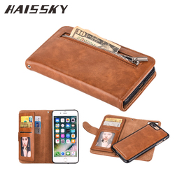 HAISSKY Case For iPhone XS Max XR Leather Case iPhone X 8 7 Plus 6 6s Plus 5 5S SE Wallet Card Luxury Flip Cover Stand Fundas 1