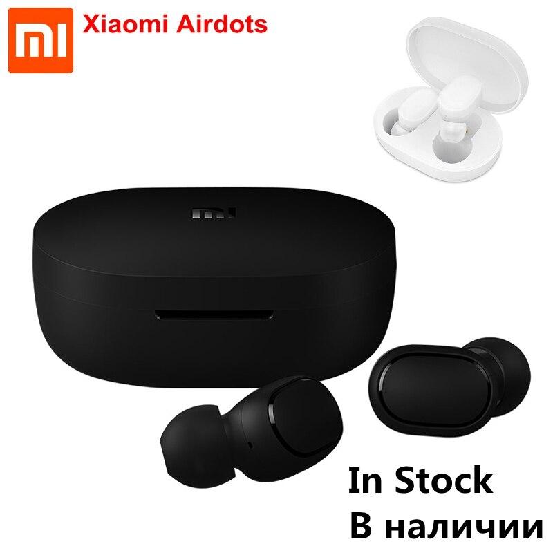 cb60f1b6c66 IN STOCK Original Xiaomi Redmi AirDots Bluetooth Earphone TWS 5.0 DSP  Active Noise Cancellation AI Control Bluetooth Headset