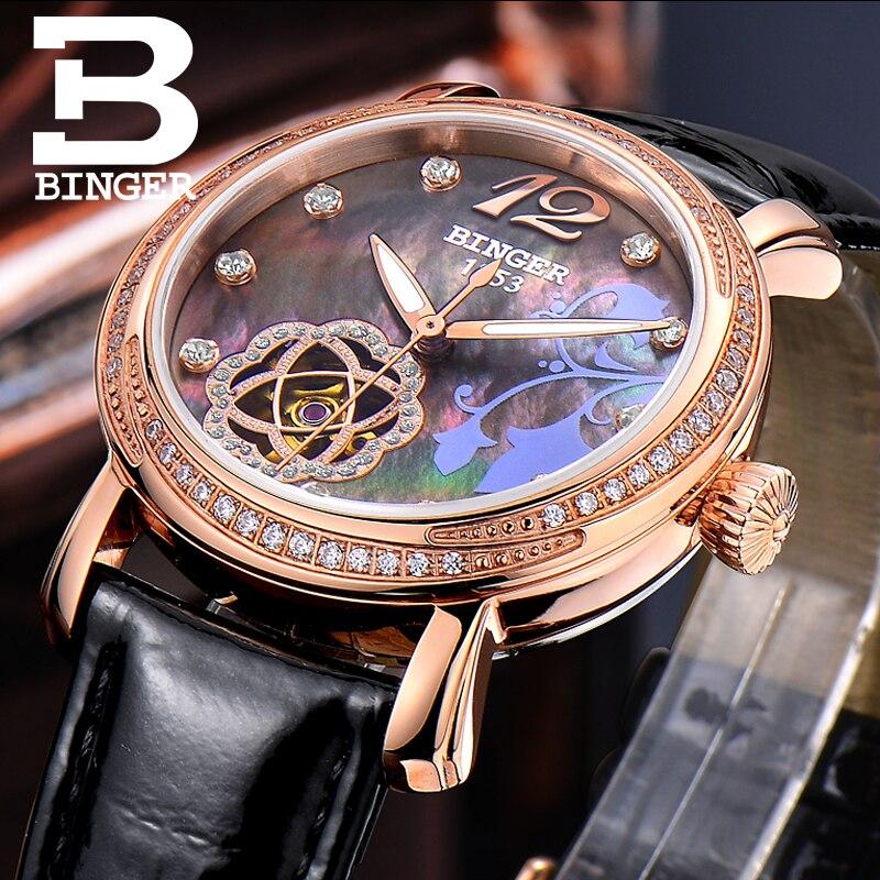 Vogue dziewczyny kolorowe powłoki zegarki emalia kwiaty kobiety sukienka zegarek na rękę mechaniczne wiatr siebie Rhinestone zegarek wodoodporny 3Bar w Zegarki damskie od Zegarki na  Grupa 3