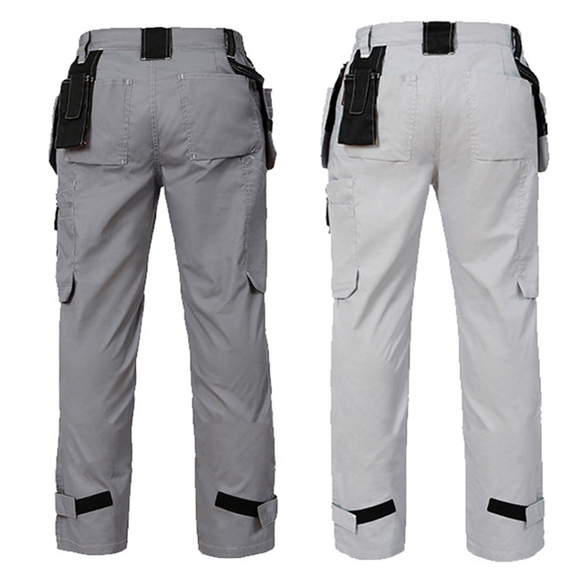 Working Pants Summer Thin Style Multi-Pockets Work Trousers Plus Size Wear-Resistance Factory Worker Mechanic Cargo Pants 3color 3