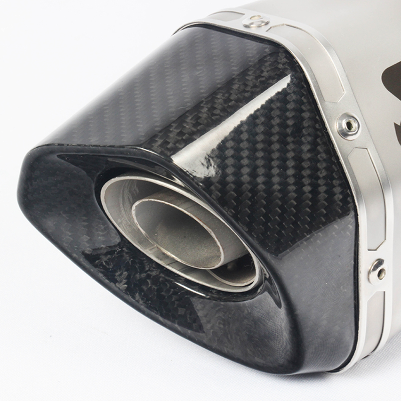 Image 3 - Exhaust Motorcycle  Muffler With AK Laser Marking DB Killer Heat Shield Cover Carbon Fiber Slip on For BMW S1000RR 2015 2016-in Exhaust & Exhaust Systems from Automobiles & Motorcycles