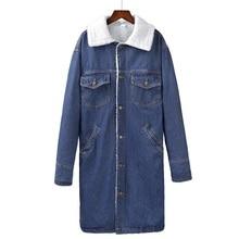 Женская куртка, теплая зимняя джинсовая куртка для женщин, мужские и женские пальто с шерстяной подкладкой, женское джинсовое пальто, куртки-бомберы, базовые Топы