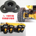 New Arrival Rubber Tires 4pcs/set For Tamiya 1:14 Tractor Truck Climbing Cars Parts and Accessories