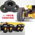 Nueva Llegada De Goma Neumáticos 4 unids/set Para Tamiya 1:14 Camión Tractor Escalada Coches Piezas y Accesorios