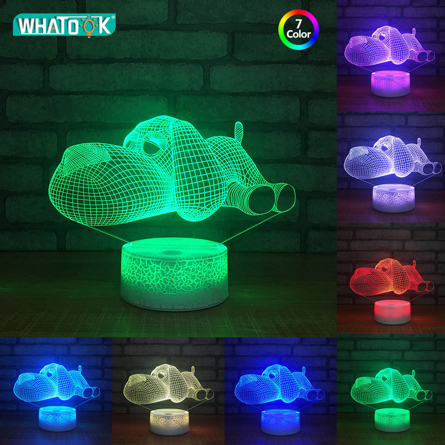 Chrismtas Lights 3D LED Night Light Lamp Acrylic Lighting USB Touch Luminous Novelty Gift 7 Color Change Table Lamp Christ Gift