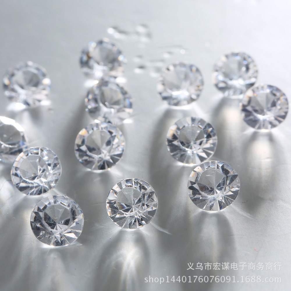 1000 Red Transparent 6mm Diamond Crystal Wedding Table