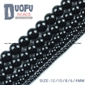Top quality A grade Natural agate Stone Black agate beads Round Loose bead ball Onyx 4/6/8/10/12MM For Jewelry bracelet DIY NEW