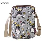 Япония Аниме женщины Кумамон Тоторо мини телефон сумка слинг пакет Дамы Мультфильм Холст Crossbody мешок мешки