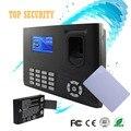 Huella digital y tarjeta de asistencia de tiempo y acceso contro de mi-tarifa con batería de respaldo 3 pulgadas de pantalla color TCP/IP de comunicación RJ45