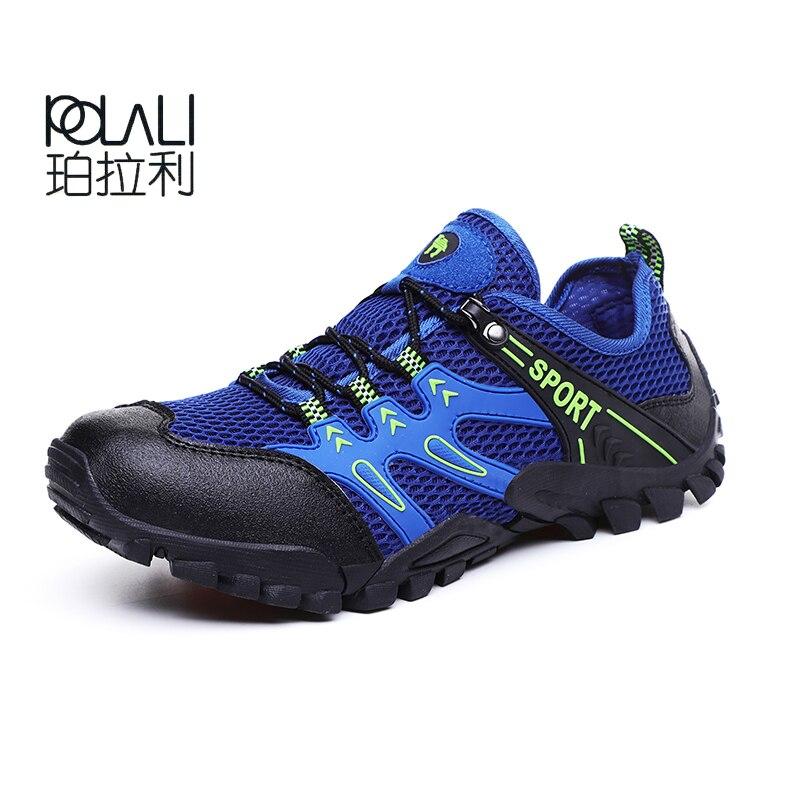 2019Summer Man Breathable Camping Hiking Shoes Men Mountain Climbing Trekking Walking Shoe Mens Non-slip Outdoor Sports Sneakers