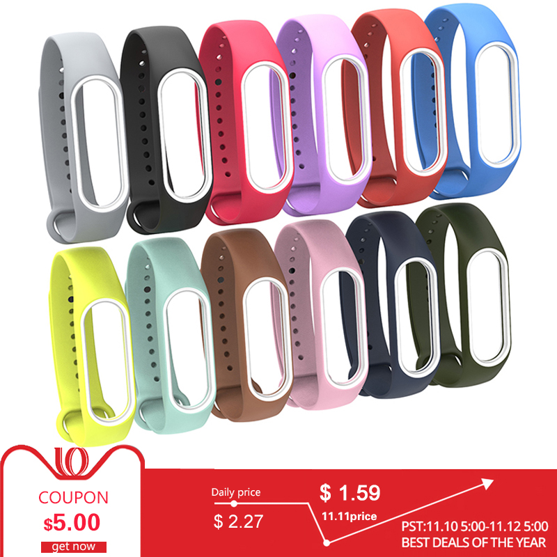 Bracelet Xiaomi Mi 3 Band Sport Strap watch Silicone For xiaomi mi band 3 accessories strap bracelet Miband3 Strap
