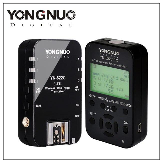 YONGNUO YN-622C-II Kit YN-622C-TX LCD Wireless ETTL Flash Controller Trigger with LCD Screen 1Pcs YN-622C for Canon DSLR Camera 2x yongnuo yn600ex rt yn e3 rt master flash speedlite for canon rt radio trigger system st e3 rt 600ex rt 5d3 7d 6d 70d 60d 5d
