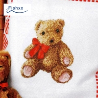 Fishxx Cross Stitch Kit European Magazine Crazy95 2 VIP Bear Cartoon Doll Pattern