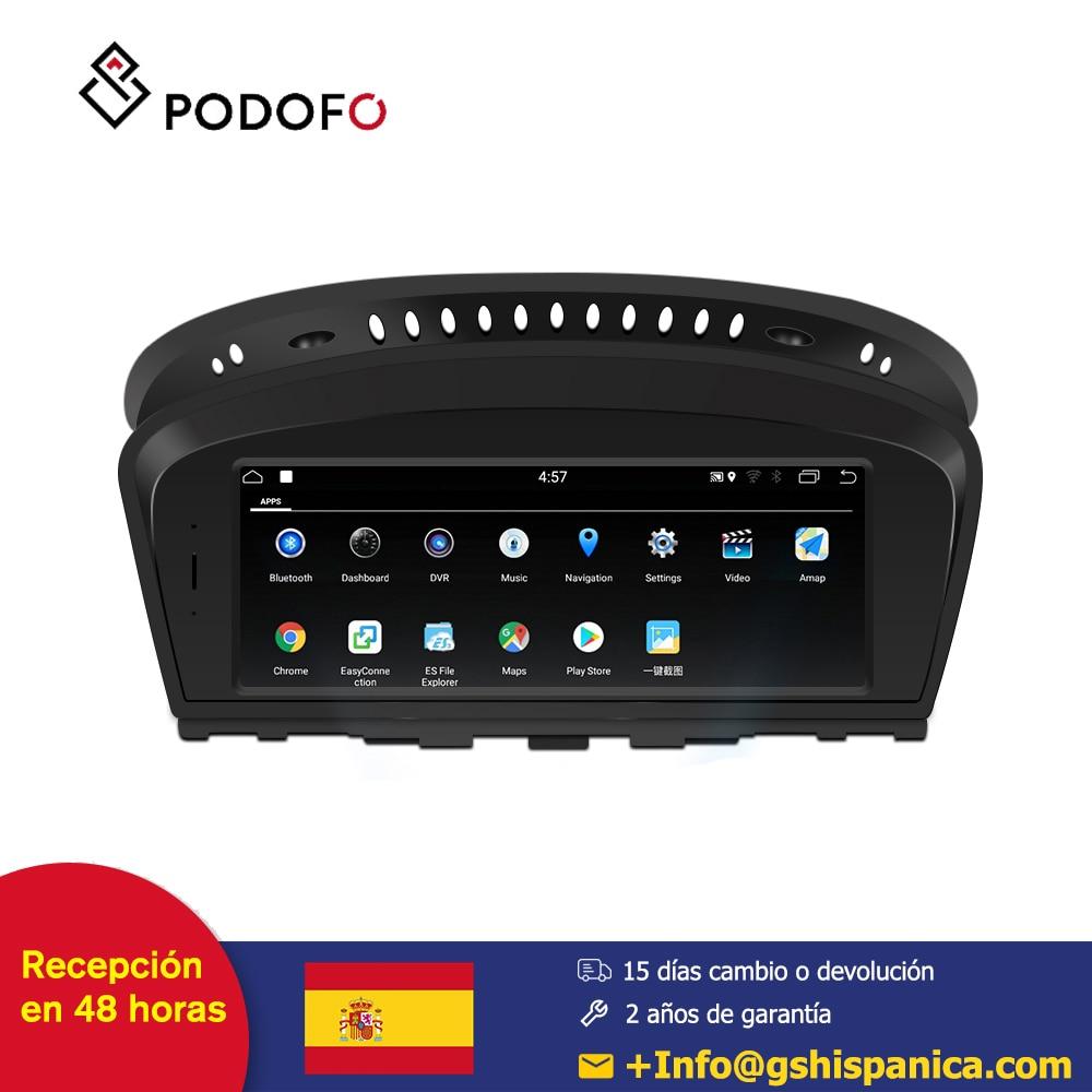 Podofo Android 7.1 coche radio 8.8 ''reproduction multimédia coche pour BMW série 3 E90 (2009-2012) CCC système