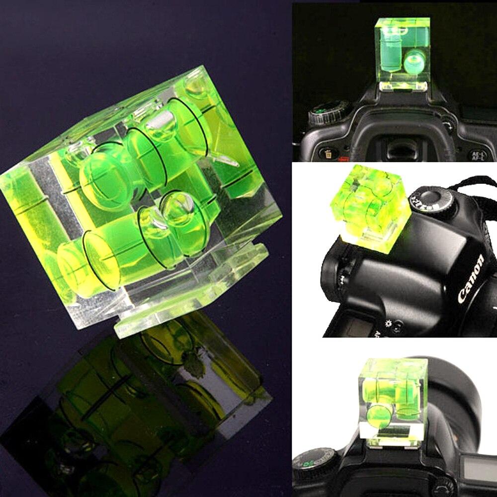 Camera Bubble Hot Spirit Shoe Level Mount 3//2//1Axis for Cam Canon Nikon Olympus