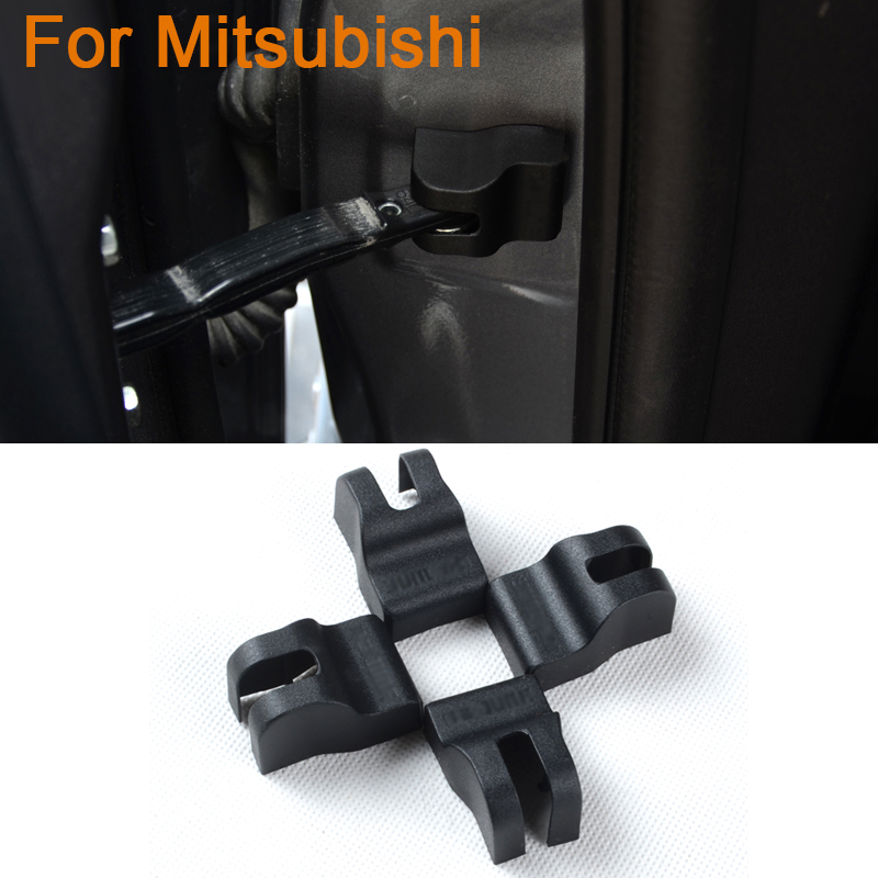 4pcs/lot Car Styling Door Check Arm Protection Cover For Mitsubishi ASX Outlander Lancer Fortis Zinger Door Lock Protective Cove