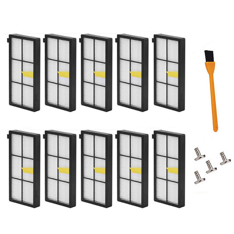 Mejor venta filtro con cepillo tornillos piezas de repuesto para iRobot Roomba 800 900 870 880 960 980 serie aspirador