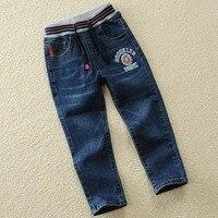 Herbst Frühling Neue Jeans Boy Elastischen Jeans Für Kinder Denim hosen Für Jungen Hosen 4 5 6 8 10 12 14