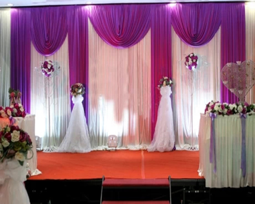 3m High X6m Wide Wedding Backdrop With Swags Event And Party Fabric Beautiful Curtains In Backdrops From Home Garden On