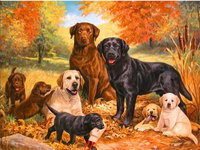 2017 The Best Selling Dog Family DIY 5D Diamond Paintings Home Decoration Diamond Inlay Art