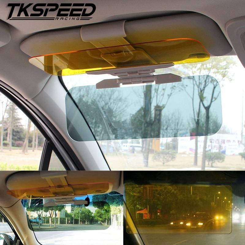 Car Sun Visor HD Anti-UV Day Night 2 In 1 Dazzling Goggle Vision Sun Block Anti-Dazzle Sunshade Rotatable Clear Driving Mirror