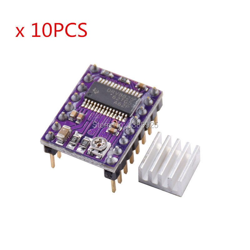 10pcs 3D Printer StepStick DRV8825 Stepper Motor Driver Carrier Reprap 4-layer PCB RAMPS Replace A4988