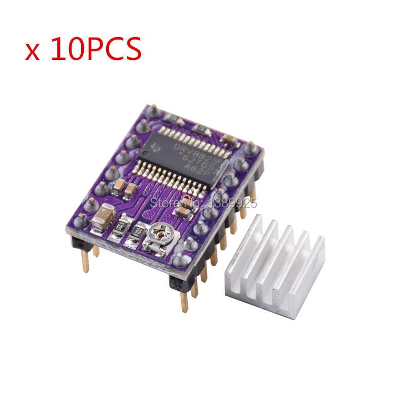 10pcs 3D Printer StepStick DRV8825 Stepper Motor Driver Carrier Reprap 4-layer PCB RAMPS Replace A4988