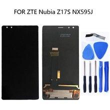 Repuesto de Digitalizador de pantalla táctil de pantalla LCD de 5,73 pulgadas para ZTE Nubia Z17S NX595J para el kit de reparación de Panel táctil ZTE Nubia Z17S
