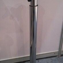Dia60* H715-1100mm складной регулируемый круглый стол настольный ноги большой регулировки хром RV бар