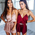 RealShe Summer Cross Bodysuit Women Sleeveless Sexy Black Bodycon Overalls One Piece Tops Rompers Womens Jumpsuit Combinaiso