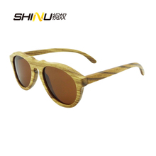 SHINU Wood Polarized Men Sunglasses Women Handmade Wooden Sun Glasses Male Gafas De Sol Eyewear 6027