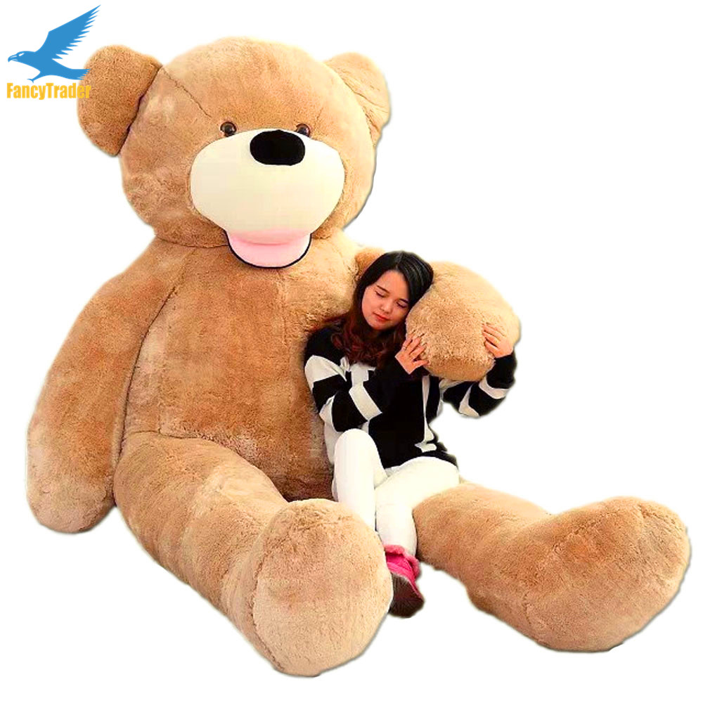 Fancytrader Biggest In the World Pluch Bear Toys!! Real JUMBO 134'' 340cm Huge!! Giant Plush Stuffed Bear 2 Sizes FT90451 canada in the world economy