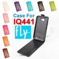Высокое Качество Новые Оригинальные Для FLY IQ441 Case Leather Case Флип чехол Для FLY IQ 441 Case Телефон Покрытия Золотые Цветы 9 цвет